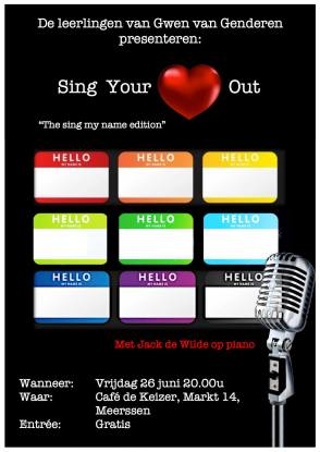 Sing Your Heart Out - Sing my name edition